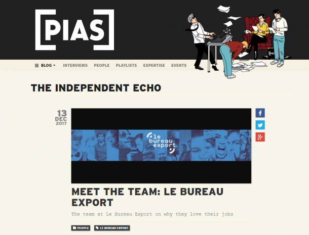 PIAS the independent echo blog
